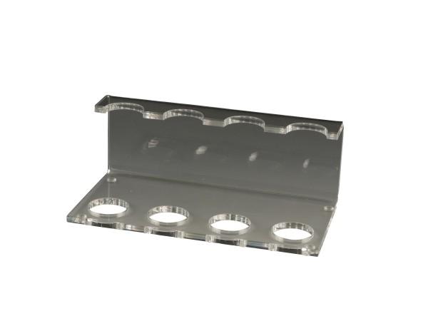 Pfeifenständer aus Acryl transparent 4er