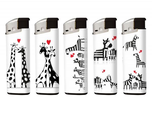 "COOL Mehrweg-Piezo-Fzg. ""Love/Giraffe & Zebra"" sortiert"