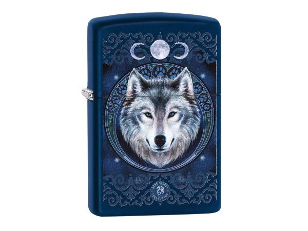 "Org.ZIPPO Navyblau color ""Anne Stokes Wolf/Moon"" 60003924"