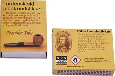 """Streichhölzer Pfeife/Zigarre """"Dänisches Pfeifenholz"""" (5 Schachteln)"""