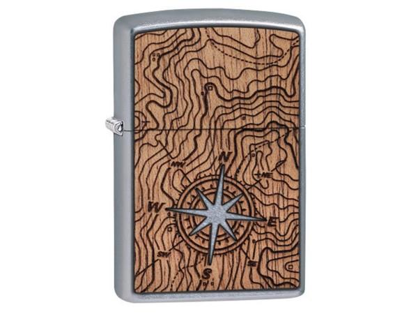 "Org.ZIPPO str. cr.""Wood Emblem Kompass beidseitig"" 60004750"