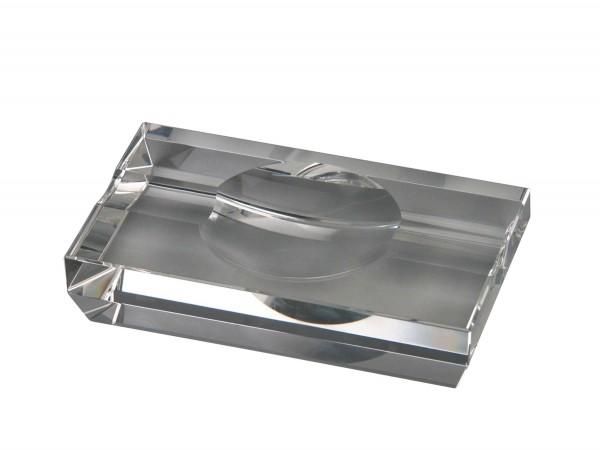 PASSATORE Cigarrenascher Kristallglas 2 Ablagen
