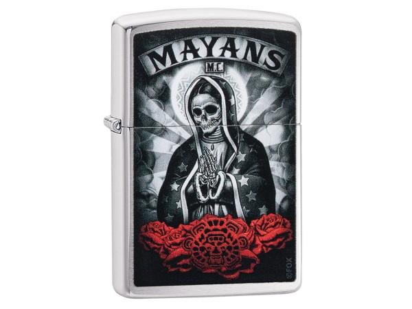 "Org.ZIPPO chrom gebürstet color ""Mayans - Skull""60004893"