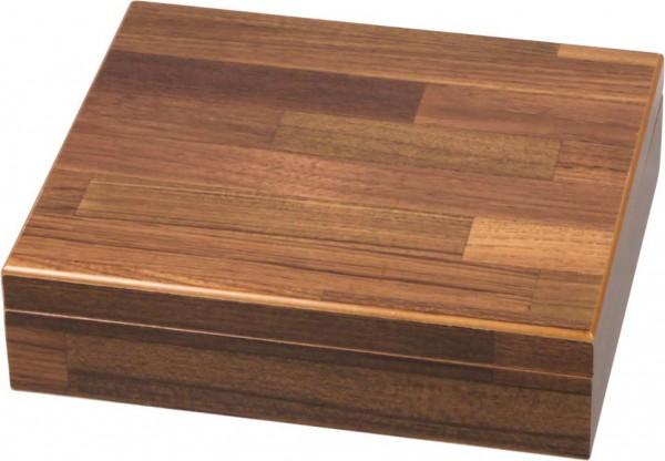 Humidor-Set braun Holzstruktur für ca. 25 Cigarren
