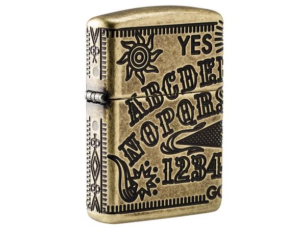 "Org.ZIPPO messing antik Armor Case ""Ouija Board"" 60004897"