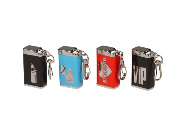 Taschenascher eckig mit Schlüsselanhänger sortiert