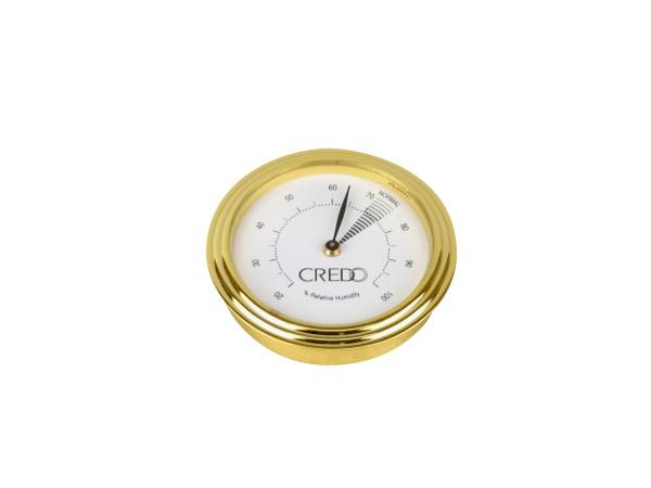 CREDO Hygrometer goldin Durchmesser 55mm, Einbaudurchm. 48mm