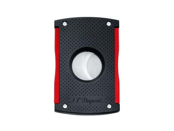 DUPONT Cigarrencutter schwarz matt/rot 21mm Schnitt 003260