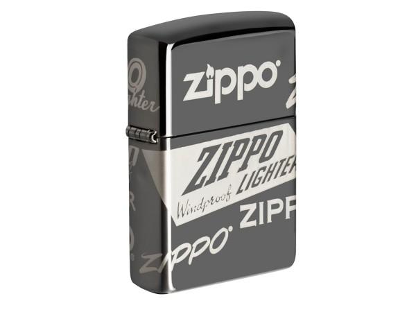 "Org.ZIPPO Black Ice 8fach gelasert ""Zippo Logos"" 60004956"