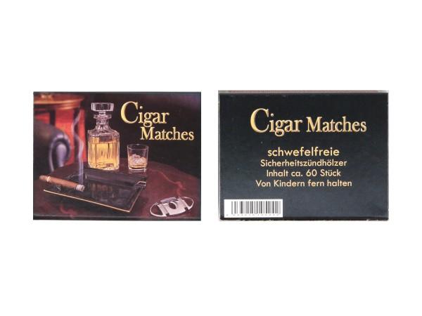 Cigarrenholz Cigar Matches schwefelfrei Inhalt ca. 60 Stück