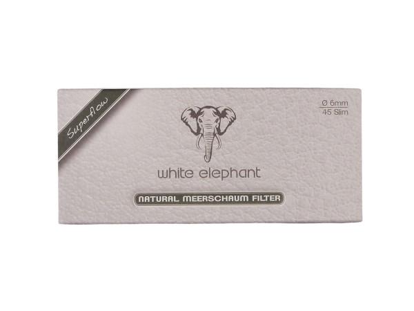 White Elephant Natur-Meerschaumfilter 6mm Box Inhalt 45 Filt