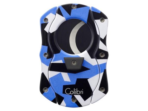 """COLIBRI Cig.abschneider """"Cut Camo"""" blau/Camouflage 25mm"""